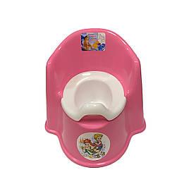 Горшок детский пластиковый (стул), РОЗОВЫЙ Консенсус