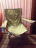 Стілець туристичний розкладний крісло доладне + чохол, фото 6