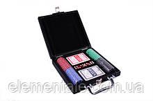 Набор для игры в покер DUKE 100 фишек 2 колоды