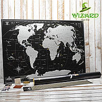Скретч карта мира My Map Black Silver edition (англ.), фото 1