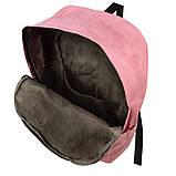 Набір з принтом Кішки 4 в 1: рюкзак, сумка, клатч, косметичка рожевий, фото 4