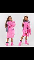Набор махровый халат для девочки +сапожки
