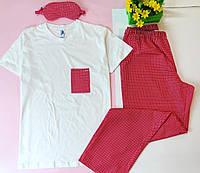 Мужская хлопковая пижама. Одежда для дома и сна. Все размеры