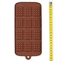 """Силиконовая форма для шоколада """"Мини Плитки"""", 12 шт"""