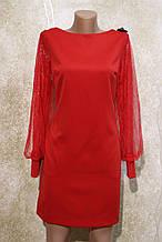 Коктейльное красное платье. Коктейльне червоне плаття.