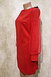 Коктейльное красное платье. Коктейльне червоне плаття., фото 2