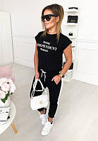 Женский летний костюм футболка и штаны (с черной и белой футболкой, С и М)