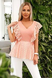 Летняя женская блузка с рюшами