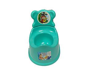 Горшок туалетный детский со спинкой, БИРЮЗА Консенсус