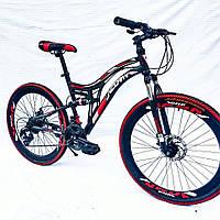 """Горный велосипед Unicorn - BestWey(двухподвес) 26 """"  размер рамы - 18"""" черно"""