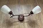 Стельова люстра на 2 лампочки колір бордовий з поворотними плафонами