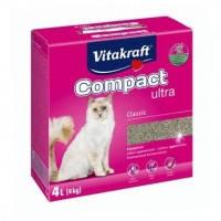 Vitakraft Compact ultra наполнитель для кошачьего туалета из бентонита, 4кг