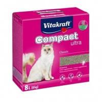 Vitakraft Compact ultra наполнитель для кошачьего туалета из бентонита, 8кг