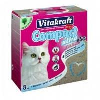Vitakraft Compact ultra plus наполнитель для кошачьего туалета из бентонита и силикагеля, 8кг