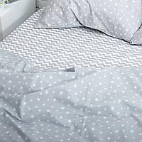 Комплект постельного белья Хлопковые Традиции Евро 200x220 Серый с белым