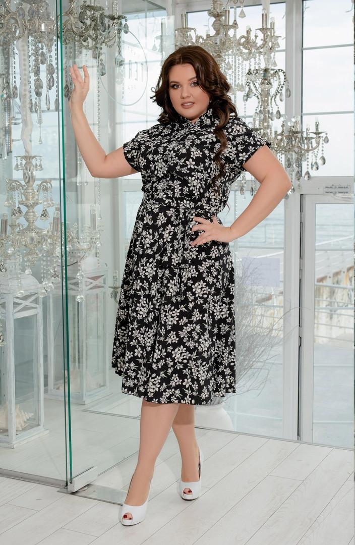 Женское летнее платье-рубашка из софта с 50 по 64 размер