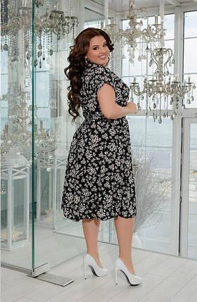 Женское летнее платье-рубашка из софта с 50 по 64 размер, фото 2