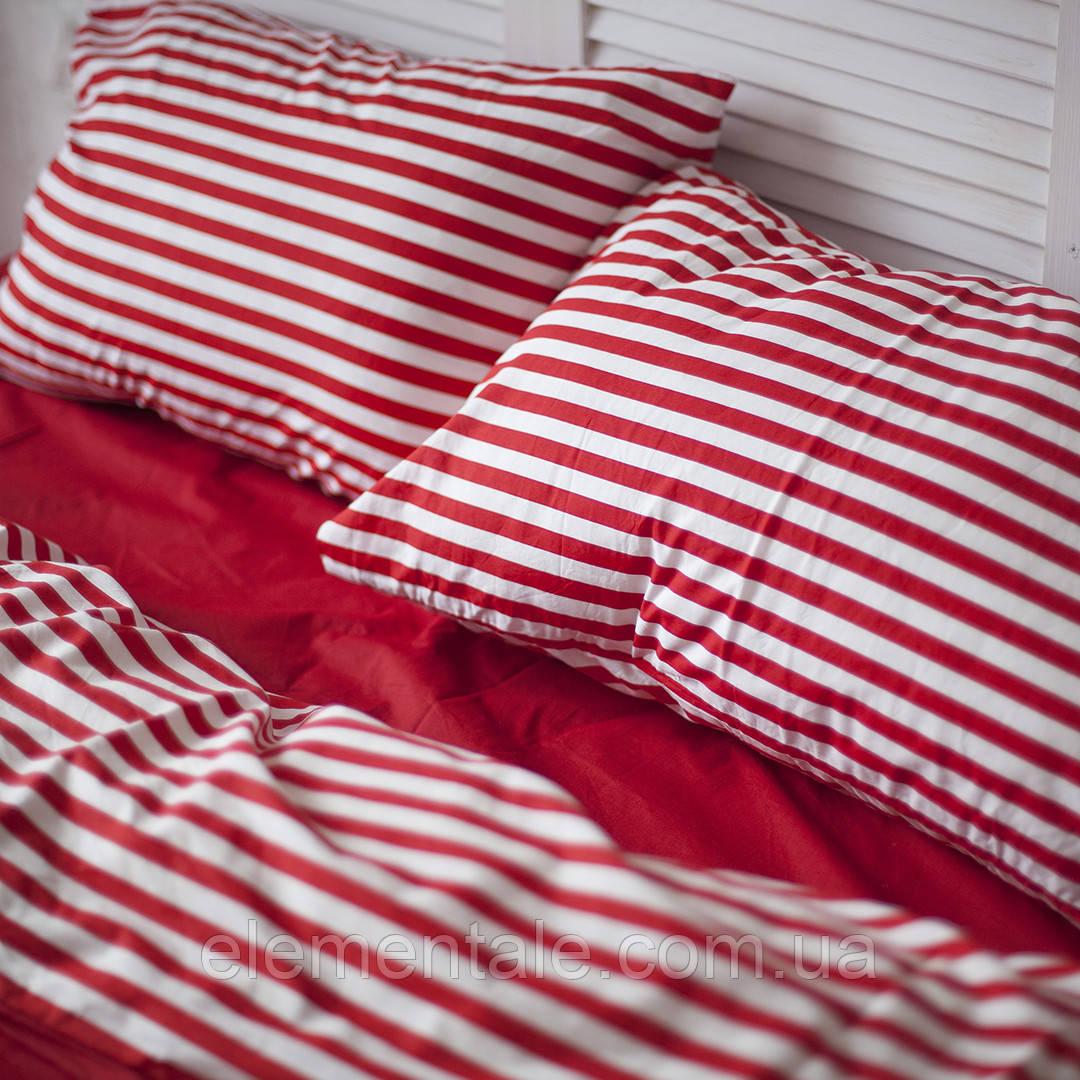 Комплект постельного белья Хлопковые Традиции Евро 200x220 Бело-красный