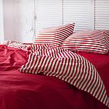 Комплект постельного белья Хлопковые Традиции Евро 200x220 Бело-красный, фото 2