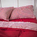 Комплект постельного белья Хлопковые Традиции Евро 200x220 Бело-красный, фото 3