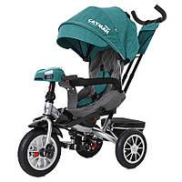 Детский трёхколёсный велосипед Cayman, «Tilly» (T-381/4), цвет Green (зелёный в льне)