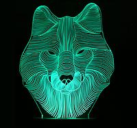 Ночник 3D Kronos Top Волк)