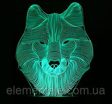 Ночник 3D Kronos Top Волк). stet_1268 (L317)-HR1