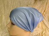 Косынка повязка Солоха на резинке цвет голубой, фото 9