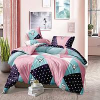 Комплект постельного белья Цветная абстракция, материал Ранфорс - 4 размера