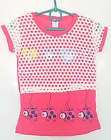 Стильная футболка для девочек 4-8 лет .