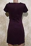 Молодіжне плаття сливового кольору з коротким рукавом. Молодіжне плаття сливового кольору, фото 4