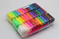 Легкий воздушный пластилин липака набор 36 цветов по 10 грам со стеками, пластилин моделин