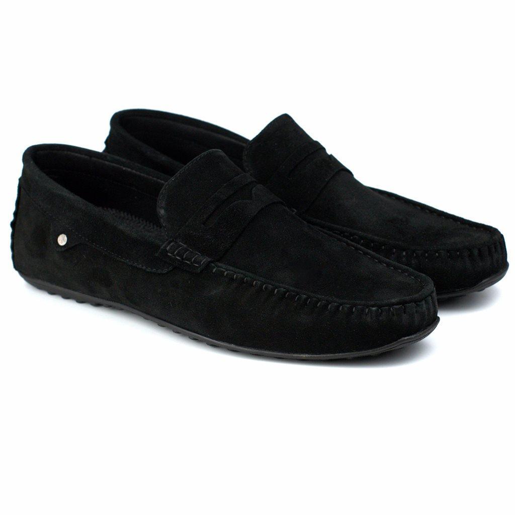Мокасины замшевые черные стильная мужская обувь Rosso Avangard ETHEREAL Black Vel