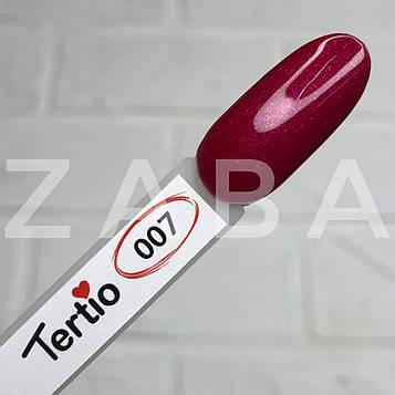 Гель-лак Tertio №007 - сливовый с микроблеском, 10 мл
