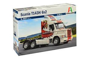 Scania T143H 6x2. Сборная модель тягача в масштабе 1/24. ITALERI 3937