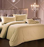 Комплект постельного белья Love You Евро Страйп-сатин 200х220 см Темно-бежевый