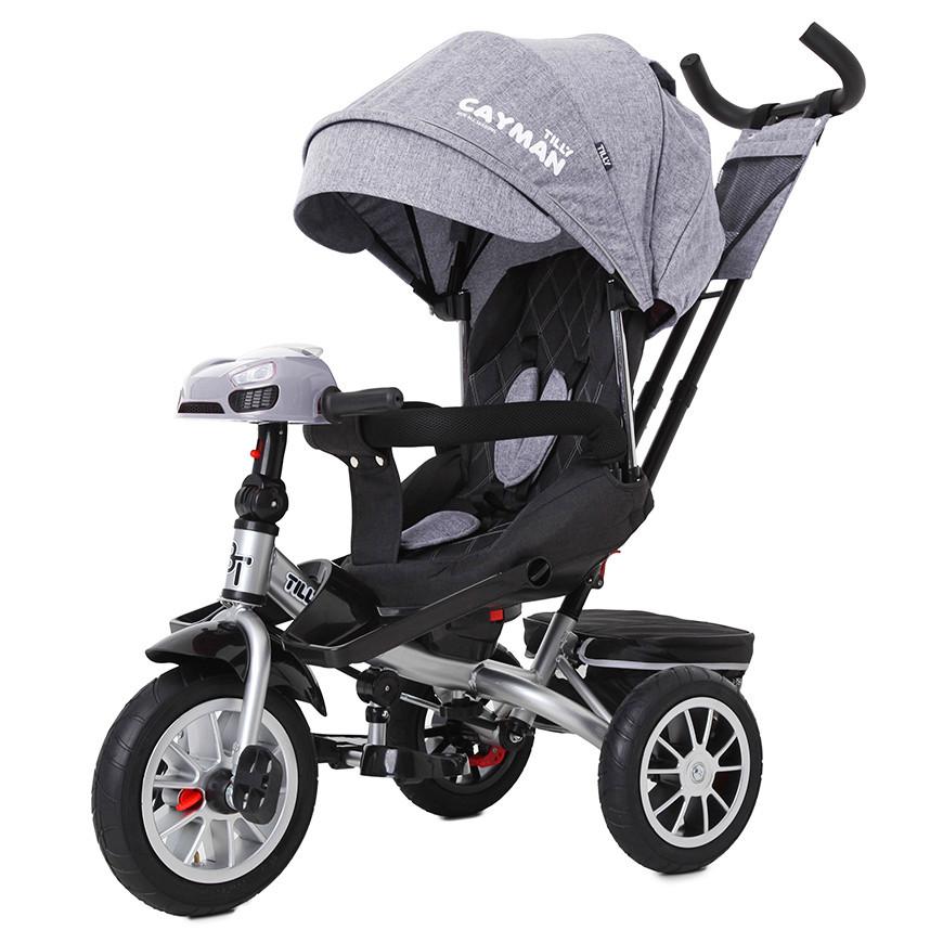 Детский трёхколёсный велосипед Cayman, «Tilly» (T-381/4), цвет Grey (серый в льне)