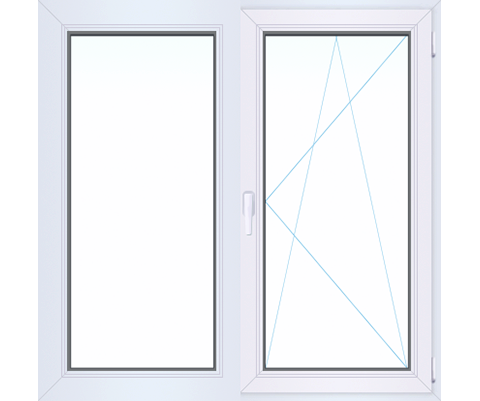 Двухстворчатое окно WINTECH