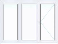 Трехстворчатое окно WINTECH