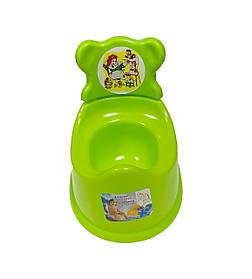 Горшок туалетный детский со спинкой, САЛАТОВЫЙ (орифлейм) Консенсус