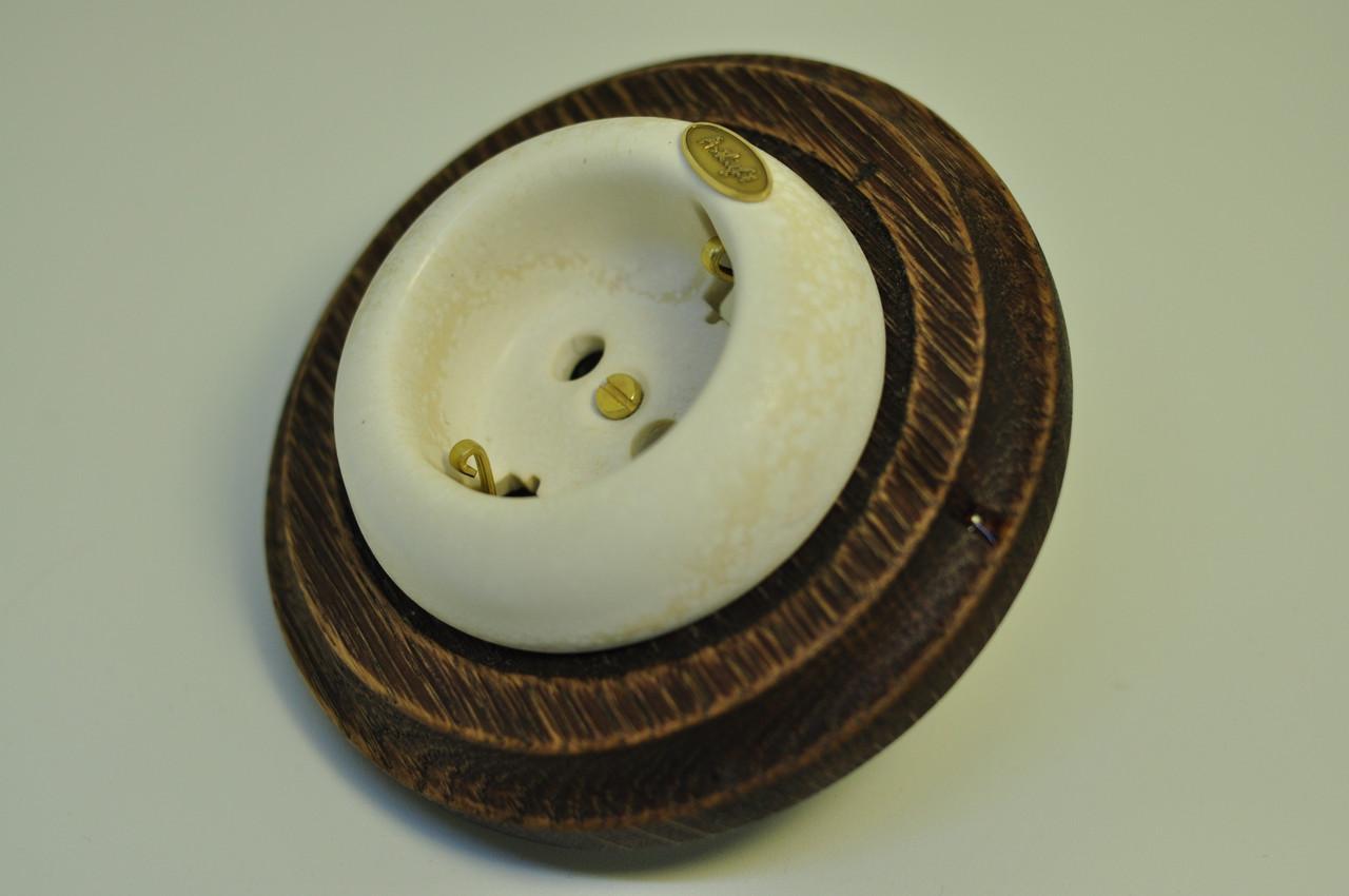 Розетка с заземляющим контактом для скрытого монтажа, Ivory (Цена указана без учёта стоимости рамки.)