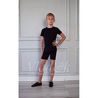 Шорты для гимнастики и танцев черные, белые х/б