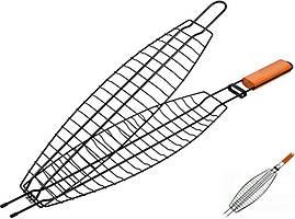 Решетка разъёмная для жарки рыбы на углях Kamille Скаут 36*12*2 см