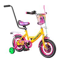 """Детский велосипед 12"""" от 2лет, TILLY Monstro  с родительской ручкой"""
