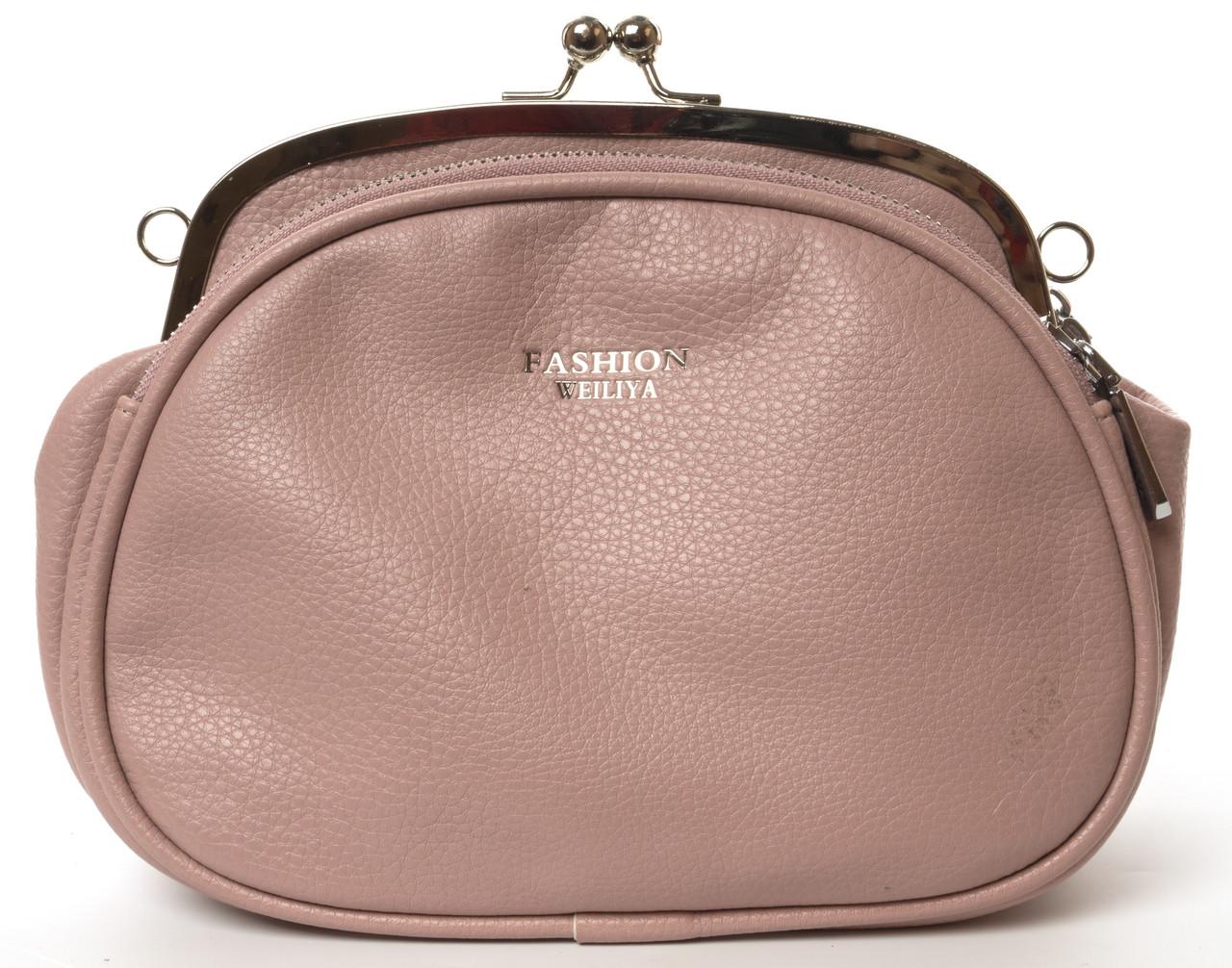 Небольшая аккуратная прочная женская сумочка с очень качественного заменителя WEILIYA art. F9026-1