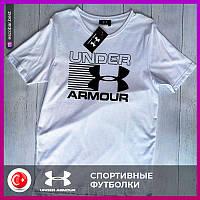 Мужская футболка Under Armour белая.Чоловіча футболка Under Armour біла.