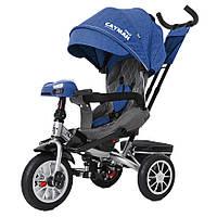 Детский трёхколёсный велосипед Cayman, «Tilly» (T-381/4), цвет Blue (синийв льне)