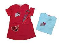 Стильная футболка  для девочки 5-11 лет .