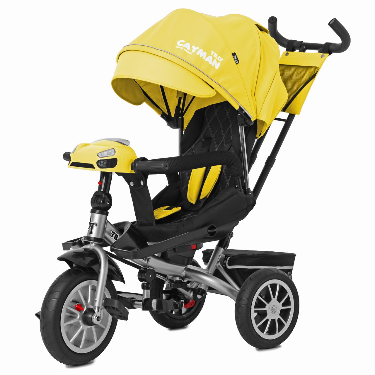 Детский трёхколёсный велосипед Cayman, «Tilly» (T-381/3), цвет Yellow (жёлтый)