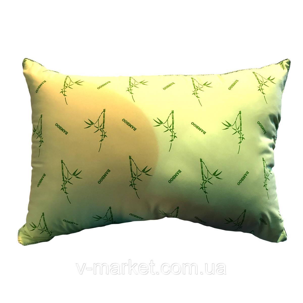 Подушка прямоугольная 50/70, бамбук, ткань фибра